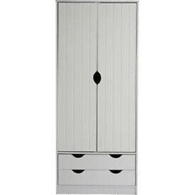 Pagnell 2 Door 2 Drawer Wardrobe - White