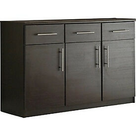 Anderson 3 Door 3 Drawer Sideboard - Black