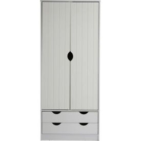 Pagnell 2 Door 2 Drawer Wardrobe - White