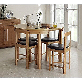Hygena Alena Oak Circular Dining Table And 4 Chairs