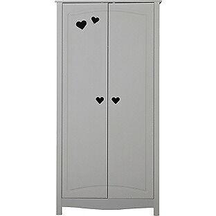 Mia 2 Door Wardrobe - White