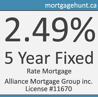 2.49% 5 Year Fixed Rate for New Home Buyers