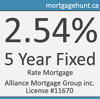 2.54% 5 Year Fixed Rate Mortgage Promotion