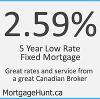 2.59% 5 year Fixed Mortgage Promotion