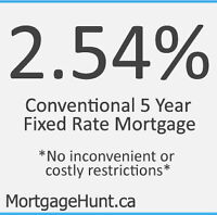 2.54% Conventional 5 year Fixed Mortgage Promotion