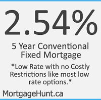 2.54% Mortgage Promotion 5 Year Fixed Rate Premium Product