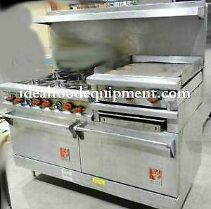 Wolf combo Gas range - 2 ovens - 6 burners - 24 flat top grill with broiler