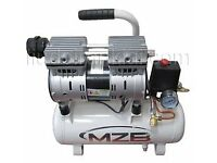 Silent Air compressor 9l 110L/min 8bar Oil Free MZB