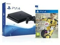 PS4 (Sony Playstation) with FIFA 17, W2K 17 and Rocket League