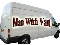 Man and large van removal services, competitive rate also available for long runs