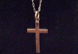 Solid silver cross with silver chain