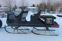 voitures pour l'hiver  et attelages  de différent model