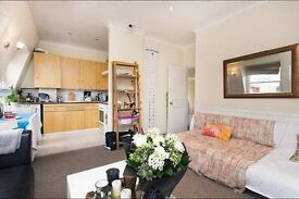 Delightful one bedroom flat with south facing roof terrace