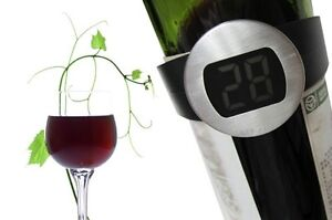 Wine Bottle Digital Thermometer Band NEW