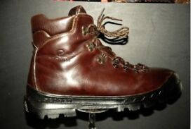 SCARPA W.PROOF Vtg Brown Leather Performance Flex Mountain Boots(EU47), £40