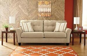 Brand New Contemporary Khaki Sofa - Payment Plans Available
