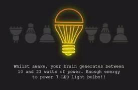 9watt Led lightbulbs same power as a normal 60watt bulb (Brand New) NON DIMMABLE