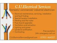 C.U. electrical services covering domestic/commercial/industrial electrician