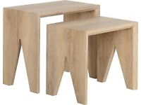 New oak effect Nest of tables FULLY BUILT get it today £59