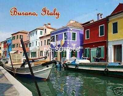 Italy   Burano   Travel Souvenir Refrig Magnet