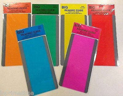 New Paragraph Reading Comprehension Guide/Strips Pack of 6 Colors 3.75