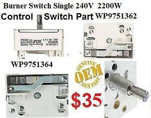WP9751364 WP9751362  9751758 / WP9755175 / 8203536 Control Switch kt aid Whirlpool KitchenAid