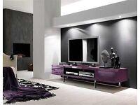 High Gloss Purple TV Unit