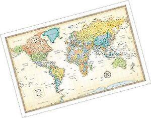 Rand Mcnally Classic World Wall Map May 15 2015 Ebay