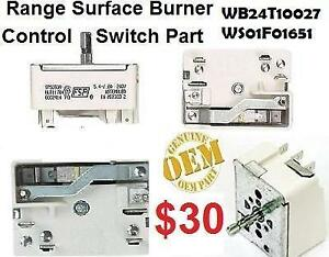 WS01F01651 / WB24T10027 GE Genuine OEM  Single Surface 8 Element 2100 watts Switch