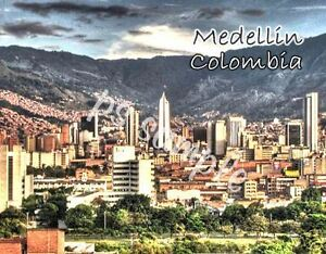 Colombia - MEDELLIN - Travel Souvenir Flexible Fridge Magnet