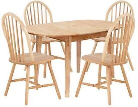 Banbury Ext Solid Wood Dining Table & 4 Chairs