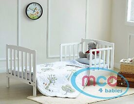 Toddler white bed