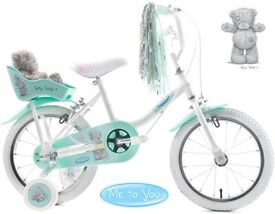 """Brand new in box, girls 14"""" Raleigh Me to You bike"""
