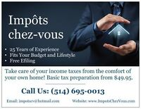 Impôts Chez-Vous / Income Taxes Your Way