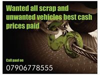 Scrap cars wanted ,free collection