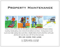 property maintenance *Norwood local only* $7.50 an hour per guy