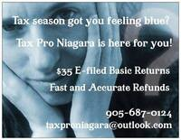 Income Tax Preparation $35.00 - Time is Running Out!