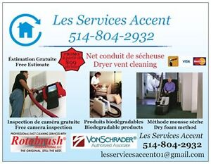 Nettoyage Des Conduits D'air/ Air Duct & Dryer Vent Cleaning