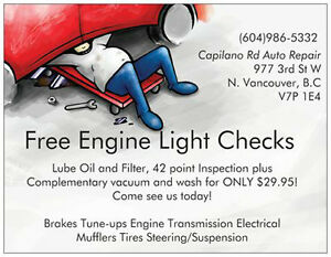 Lube, Oil and Filter by Certified Automotive Tech. Only $29.95 North Shore Greater Vancouver Area image 1