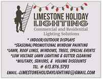 Free holiday lighting and window painting quote