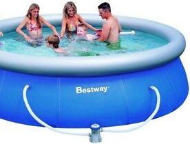 Bestway Quick Up Swimming Pool inkl. Filterpumpe 366x91cm für 69,95€