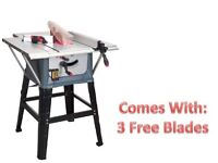 """SEALEY TOOLS TS10P TABLE SAW 10"""" 254MM 1500W TABLESAW + 3 BLADES"""