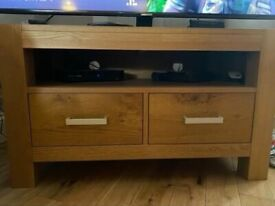 Oak TV cabinet excellent condition