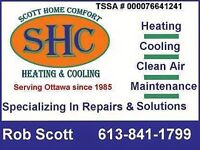 Red Tag Repair/Removal, Furnace installation / Fireplace Repair