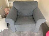 IKEA Grey Arm Chair and Sofa