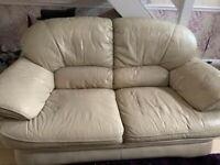 2&3 seater cream couches