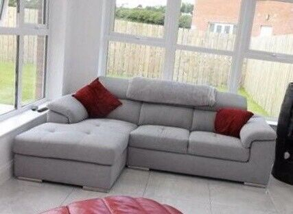 Very Brady Left Hand Grey Fabric Corner Chaise Sofa Urgent In Greenisland County Antrim Gumtree