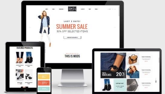 Small Business Online shop eCommerce Website Design