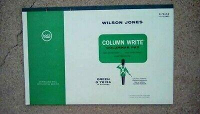 Vintage 1960s Wilson Jones 13 Column Accounting Bookkeeping Paper 17x11 Inch