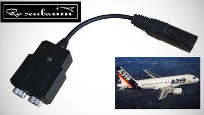 Adapter Aviation Headset GA Flugzeug auf XLR5 Airbus A319/320 Linienflugzeuge  1 Aviation Headset